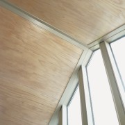 interior ceiling of house made from Blush pre-finished angle, beam, ceiling, daylighting, floor, hardwood, house, laminate flooring, plywood, siding, wall, window, wood, wood flooring, wood stain, white, brown