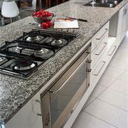 The gas hob of this granite benchtop - countertop, floor, flooring, granite, kitchen, kitchen stove, tile, gray