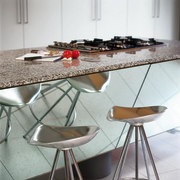Reflective mirror to this kitchen bench - Reflective chair, flooring, furniture, interior design, product design, table, gray, white