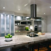 View of this kitchen - View of this countertop, home appliance, interior design, kitchen, gray