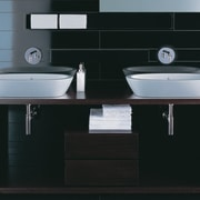 The detail of two basins - The detail bathroom, bathroom accessory, bathroom cabinet, bathroom sink, ceramic, plumbing fixture, product, product design, sink, tap, black