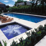 View of outdoor swimming pool and lounging area leisure, property, real estate, swimming pool, water, black, white