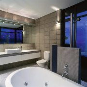 The view of a urban bathroom - The architecture, bathroom, ceiling, interior design, property, room, wall, gray