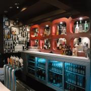 view of bar - view of bar - interior design, black