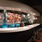 Close up of feature wall behind the bar bar, interior design, restaurant, black