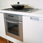 Overlooking the cooktop & oven - Overlooking the countertop, gas stove, home appliance, kitchen, kitchen appliance, kitchen stove, major appliance, oven, small appliance, stove, white