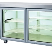 stainless steel glass door chiller by Skope moveable home appliance, kitchen appliance, product, refrigerator, white