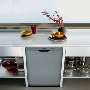 View of the dishwasher - View of the furniture, product design, shelf, table, gray, white
