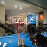 View of the lower level of this home interior design, leisure, leisure centre, recreation room, black, gray