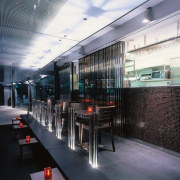 View of the main bar area - View glass, public transport, black, gray