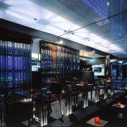 View of the bar - View of the interior design, restaurant, black, blue