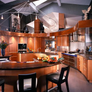 View of this kitchen - View of this cabinetry, ceiling, countertop, cuisine classique, interior design, kitchen, red, black