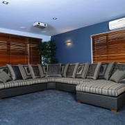 A view of the Key West sofa suite angle, couch, furniture, interior design, living room, real estate, wall, blue