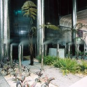 Auckland's Britomart Transport Centre. Water Systems Treatment Specialists house, plant, tree, black