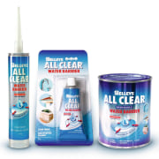 A photograph of Selleys versatile All Clear Sealant liquid, product, water, white