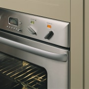 A photograph of a Fisher & Paykel oven. home appliance, kitchen appliance, major appliance, product design, gray, black