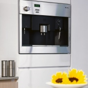 view of  stainless steel oven - view coffeemaker, espresso machine, home appliance, kitchen appliance, product, product design, small appliance, white