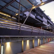 view of exteior showing aluminium louvres - view architecture, building, steel, structure, black, purple