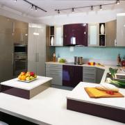 Overlooking the kitchen area - Overlooking the kitchen countertop, interior design, kitchen, white, gray