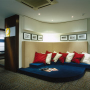 view of this chill-out area - view of ceiling, furniture, interior design, room, black