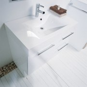 Looking down into the sink - Looking down angle, bathroom, bathroom sink, bidet, ceramic, floor, plumbing fixture, product design, sink, tap, toilet seat, white