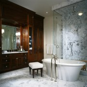 View of this bathroom - View of this bathroom, estate, home, interior design, room, gray, black