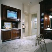 Close view of the bathroom - Close view cabinetry, countertop, interior design, kitchen, room, gray, black