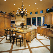 View of this kitchen - View of this countertop, cuisine classique, dining room, estate, interior design, kitchen, room, brown