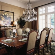 View of the formal dining area - View dining room, furniture, home, interior design, living room, room, table, window, black, gray