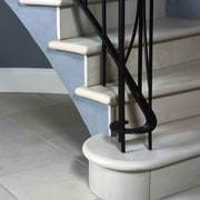 stairway with tiled surface - stairway with tiled floor, handrail, product design, stairs, structure, gray