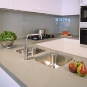 view of kitchen area - view of kitchen countertop, interior design, kitchen, gray