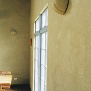 Interior view of wall showing painting - Interior architecture, ceiling, daylighting, floor, home, house, plaster, property, wall, window, brown, orange