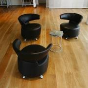 Pale hardwood floors from Ironwood Australia were used chair, floor, flooring, furniture, hardwood, interior design, laminate flooring, product design, table, wood, wood flooring, brown