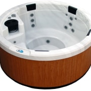 View of the circular-shaped spa bath - View jacuzzi, white
