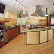View of this kitchen - View of this cabinetry, countertop, cuisine classique, floor, flooring, hardwood, interior design, kitchen, laminate flooring, wood, wood flooring, orange