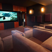 Interior view of lounge area - Interior view entertainment, interior design, room, black