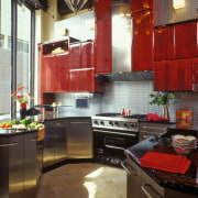 View of this kitchen - View of this cabinetry, countertop, interior design, kitchen, room, black