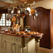 View of this traditional kitchen - View of cabinetry, countertop, cuisine classique, interior design, kitchen, brown