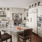 View of the traditional kitchen - View of cabinetry, countertop, cuisine classique, interior design, kitchen, room, gray