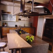 View of this kitchen - View of this cabinetry, ceiling, countertop, cuisine classique, interior design, kitchen, loft, black