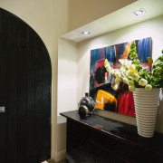 View of the home's entrance way - View interior design, room, black