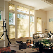 View of the window products - View of ceiling, daylighting, floor, home, interior design, living room, room, shade, wall, window, window blind, window covering, window treatment, wood