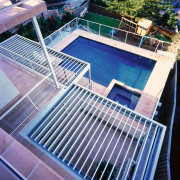 exterior view above vergola - exterior view above daylighting, fence, leisure, leisure centre, property, swimming pool, blue