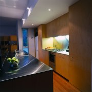 View of this kitchen - View of this architecture, ceiling, countertop, interior design, kitchen, real estate, room, black, brown