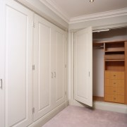 wardrobes in the bedroom also manufactured and installed cabinetry, closet, cupboard, floor, furniture, home, property, real estate, room, wardrobe, wood, gray