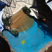 the swimming pool in the apartment blocks - leisure, reflection, swimming pool, water, black