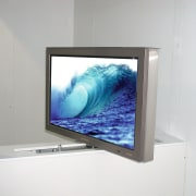 View of entertainment - View of entertainment - computer monitor, display device, flat panel display, glass, lcd tv, led backlit lcd display, media, multimedia, product design, screen, technology, television, television set, white