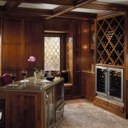 Interior view of dining area - Interior view cabinetry, countertop, cuisine classique, interior design, kitchen, room, window, wood, red, brown