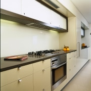 interior view of kitchen and its appliances - cabinetry, countertop, interior design, kitchen, room, white, brown
