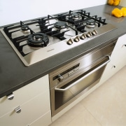 view of oven and cooktop - view of countertop, gas stove, home appliance, kitchen, kitchen stove, gray